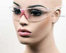 Radians Sonar Pink Clear Lens Safety Glasses Womens Z87.1