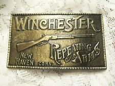 Vintage Winchester Repeating Arms Brass Belt Buckle