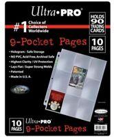 ULTRA PRO 9 Pocket Platinum Abum Binder Folder Sleeve Pages 10 in Sealed Pack