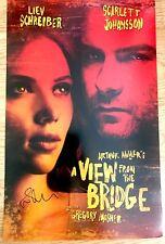 Scarlett Johansson & Liev Schreiber signed View From Bridge Broadway Poster Card