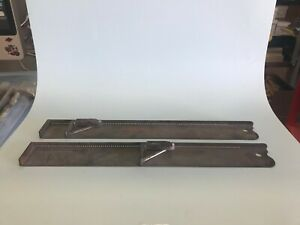"QTY 2 - 20"" Metal Composing Sticks - Letterpress"