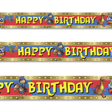 15ft Mike The Knight Medieval Happy Birthday Party Foil Banner Decoration