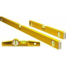 "Stabila 3 Piece Aluminum Pro Carpenter Level Set  24"" 48"" & Torpedo 29824"