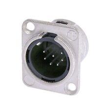 Neutrik NC7MD-L-1 XLR 7 Pin Male, Panel Mount - Solder Cups - Nickel/Silver 1076