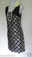 20'S STYLE GATSBY VINTAGE LOOK CHARLESTON BEADED SEQUIN FLAPPER DRESS SIZE 10/12