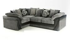 BRAND NEW LUCY LUSH CORNER SOFA BLACK GREY BROWN  - LEFT OR RIGHT HAND