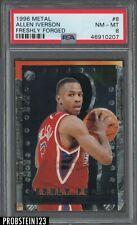 1996-97 Fleer Metal Freshly Forged Allen Iverson 76ers RC Rookie PSA 8 NM-MT