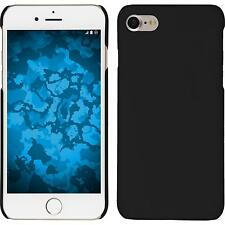 Hardcase Apple iPhone 7 / 8 rubberized black Cover + protective foils