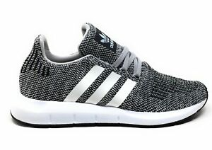 Adidas Unisex Kids Swift Run J Athletic Sneakers Gray White Size 4.5 M US