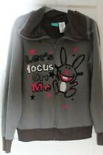 "It's Happy Bunny Gray Sweat Shirt Sz XL Juniors XL (15-17) ""Lets focus on Me"""