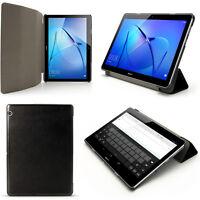 "PU Cuero Funda Smart Cover para Huawei MediaPad T3 10"" Piel Carcasa + Protector"