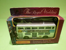 MATCHBOX KRW-15 LONDON BUS - ROYAL WEDDING 1981 DIANA - NEAR MINT IN BOX -