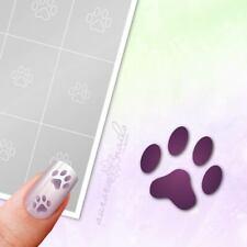 Schablonen für Airbrush und Nailart M004 Hund Pfärte Tiere Dog 80x klebend