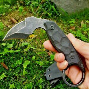 Mini Claw Knife Karambit Fixed Blade Hunting Jungle Tactical Combat G10 Handle S