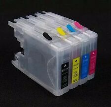 4x Refillable LC73,LC-73,LC77XL,LC40,LC-40 ink cartridges + A Set Of Refill Ink