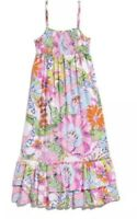 Lilly Pulitzer For Target Girls Maxi Dress Pink Nosey Posey XL 12-14