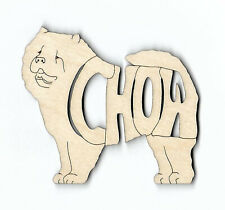 Chow Chow Dog laser cut and engraved wood Magnet