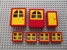 Lego rouge & jaune bay windows Portes maison construire projet ville village 05