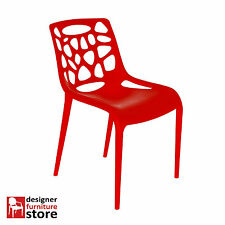 Replica Moon Chair (Plastic) - Red (Indoor/Outdoor)