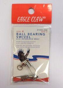 Eagle Claw Ball Bearing Swivel QTY 2 Size 4 #01083-004 623T