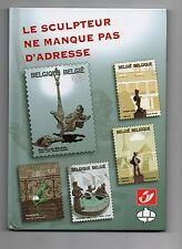 CBBD Le Sculpteur ne manque pas d'adresse. 2003 Neuf avec timbre. Tintin Gaston