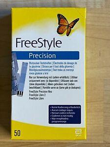 FreeStyle Precision - Blutzuckerteststreifen / 50 Stück  1+2 MHD 31.08.2021