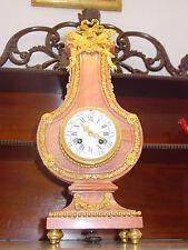 Seltene Antike Marmor Lyra Uhr, Pendule ,Frankreich! um 1850