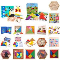 Tetris Holz Tangram Kinder Spiel bunt Puzzle geometrisch Formen Box Knobelspiel