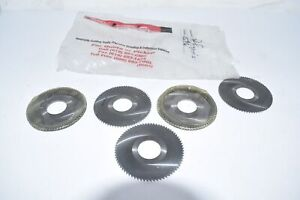Lot of 5 NEW Dennis Co. Precision Tool USA Slitting Saw Blades SP-62596 3'' 1''