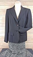Rena Rowan Blazer & Skirt Set Suit Black White Geometric Print Size 6