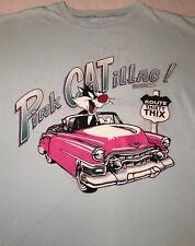 "Mens VTG 1994 LOONEY TOONS Sylvester in ""Pink CATiilac"" T-shirt Sz: 2XL-3XL, USA"