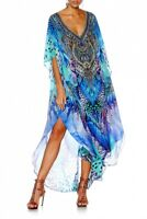new CAMILLA FRANKS SILK SWAROVSKI MOON DANCE V NECK KAFTAN DRESS layby avail
