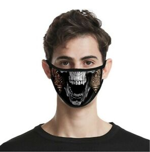 Halloween Face Mask Skull Reusable and Washable