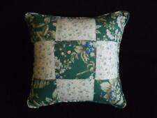 Laura Ashley Bramble Strawberry Fields 12x12 Reversible Patchwork Throw Pillow