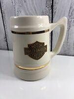 Vintage Harley Davidson 74 Cu.In V-Twin 1922-1980 Porcelain Beer Mug USA Strong