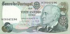 PORTUGAL: Billet 20 ESCUDOS 1978 état SPL/NEUF UNC.