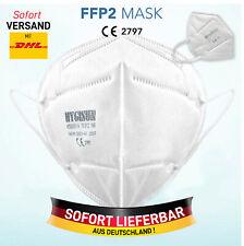 10x FFP2 Maske Mundschutz Atemschutz Nase 5-lagig Gesichtsschutz CE zertifiziert