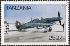WWII RAF Hawker Hurricane Mk.IIB Hurribomber Desert Aircraft Stamp (1997)