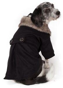 Buttoned 'Coast-Guard' Fashion Faux-Fur Pet Dog Coat Jacket