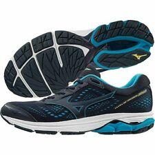 f99b18a97788 Mizuno WAVE RIDER 22 Blue Peacoat Primrose Yellow Running Trainers Men's UK  10.5