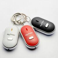 NE_ LED Anti-Lost Key Finder Find Locator Keychain Whistle Beep Sound Control To