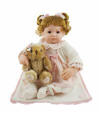 16-Inch Pink Lovely Baby Girl for Children Vinyl Dolls Gifts Toy Vinyl Cosette
