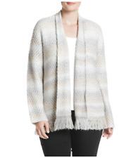 ALFRED DUNNER® Plus Size 1X, 2X Eskimo Kiss Fringe Cardigan Sweater NWT $72