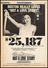 NOT A LOVE STORY: Pornography__Orig. 1982 Trade AD / poster__BONNIE SHERR KLEIN