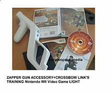 ZAPPER GUN ACCESSORY AND CROSSBOW LINK'S TRAINING Nintendo WII Video Game LIGHT