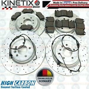 FOR RANGE ROVER SPORT AUTOBIOGRAPHY FRONT REAR DRILLED BRAKE DISCS PADS SENSORS