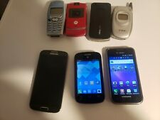 A Lot Of 7 Old Flip Phone Smartphones  Samsung galaxy s4