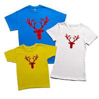 Christmas Reindeer T-shirt Buffalo Plaid Deer Tartan Pattern Family Holiday Top