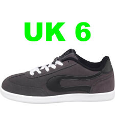 DuFFS Suede Skate Shoes CHARCOAL / BLACK UK 6 Skater Board Trainers Duff UK6