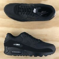 Nike Air Max 90 Essential Triple Black Athletic Running Sneakers AJ1285-019 Size